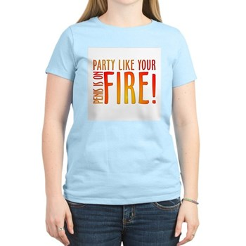 Party Like Your Penis is on Fire Women's Light T-S