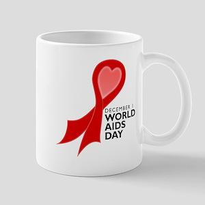 Worlds AIDS Day Red Ribbon Mug