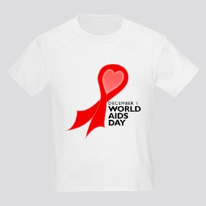Worlds AIDS Day Red Ribbon Kids Light T-Shirt