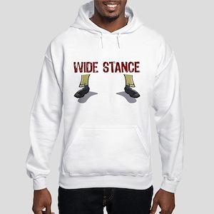 Wide Stance Feet Hooded Sweatshirt
