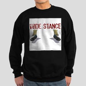 Wide Stance Feet Dark Sweatshirt