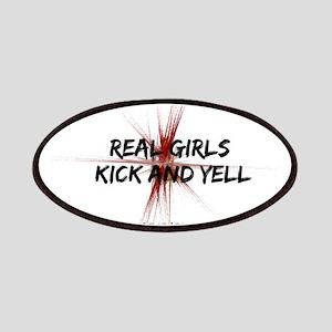 Taekwondo Girls Kick Patches