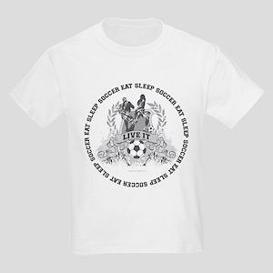 Eat Sleep Soccer Kids Light T-Shirt