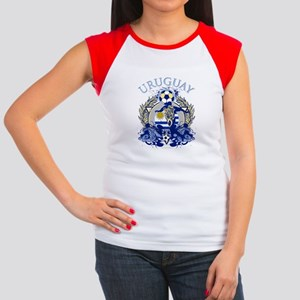 Uruguay Soccer Women's Cap Sleeve T-Shirt