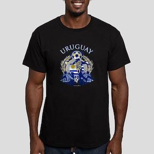 Uruguay Soccer Men's Fitted T-Shirt (dark)