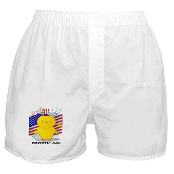 Patriotic Chick Boxer Shorts