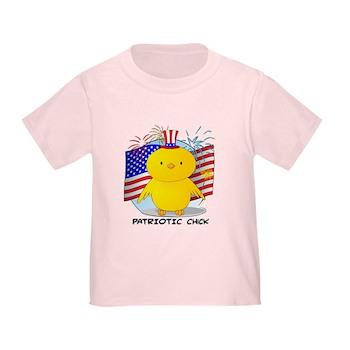 Patriotic Chick Toddler T-Shirt