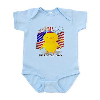 Patriotic Chick Infant Bodysuit