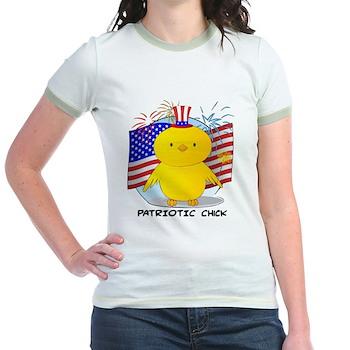 Patriotic Chick Jr. Ringer T-Shirt