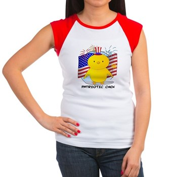Patriotic Chick Women's Cap Sleeve T-Shirt