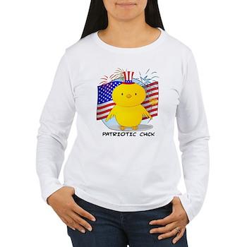Patriotic Chick Women's Long Sleeve T-Shirt