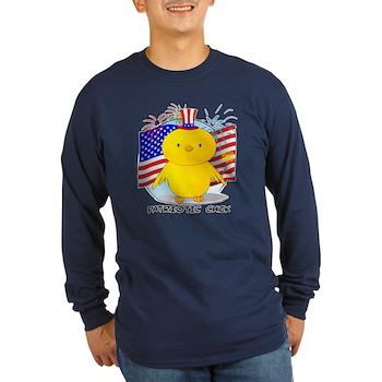Patriotic Chick Long Sleeve Dark T-Shirt