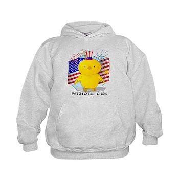 Patriotic Chick Kids Hoodie