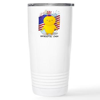 Patriotic Chick Stainless Steel Travel Mug