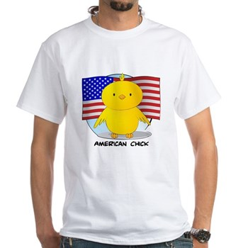 American Chick White T-Shirt