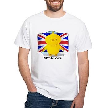 British Chick White T-Shirt