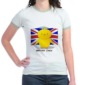 British Chick Jr. Ringer T-Shirt