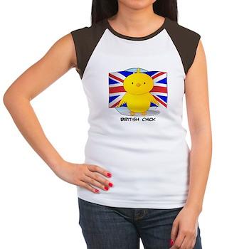 British Chick Women's Cap Sleeve T-Shirt