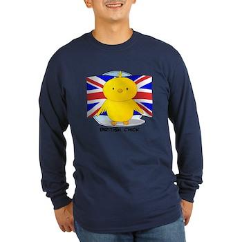 British Chick Long Sleeve Dark T-Shirt