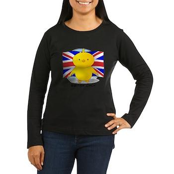 British Chick Women's Long Sleeve Dark T-Shirt