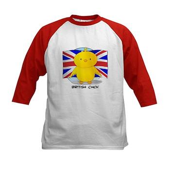 British Chick Kids Baseball Jersey