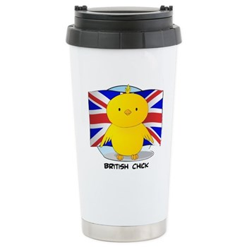British Chick Stainless Steel Travel Mug