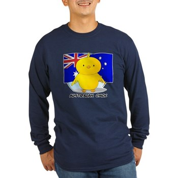Australian Chick Long Sleeve Dark T-Shirt