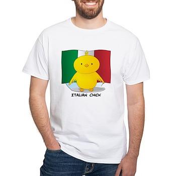 Italian Chick White T-Shirt