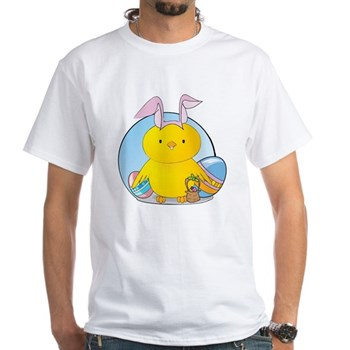 Easter Bunny Chick White T-Shirt