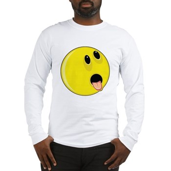 Smiley Face - Hungry Up & Left Long Sleeve T-Shirt