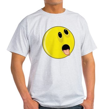 Smiley Face - Hungry Up & Left Light T-Shirt