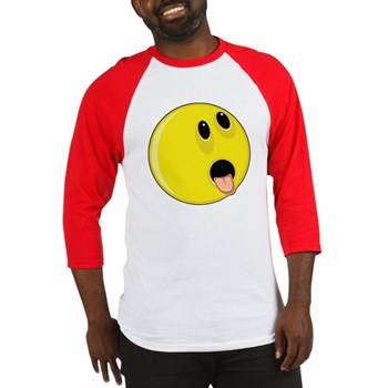 Smiley Face - Hungry Up & Left Baseball Jersey