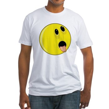 Smiley Face - Hungry Up & Left Fitted T-Shirt
