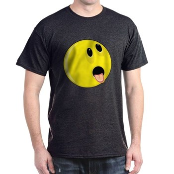 Smiley Face - Hungry Up & Left Dark T-Shirt