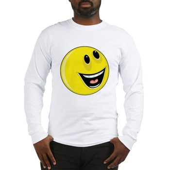 Smiley Face - Up & Left Long Sleeve T-Shirt