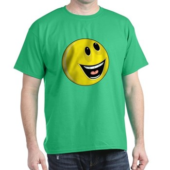Smiley Face - Up & Left Dark T-Shirt