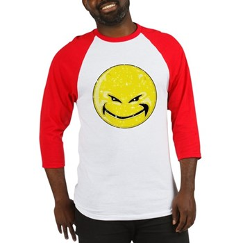 Smiley Face -Distressed Devil Baseball Jersey