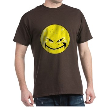 Smiley Face -Distressed Devil Dark T-Shirt