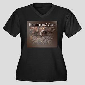 Breeders' Cup Women's Plus Size V-Neck Dark T-Shir