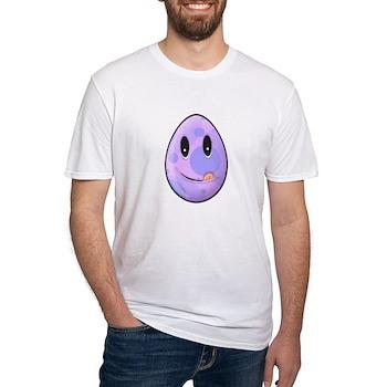 Polka Dot Easter Egg Fitted T-Shirt