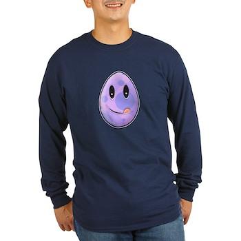 Polka Dot Easter Egg Long Sleeve Dark T-Shirt