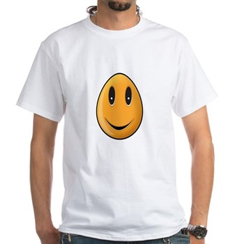 Orange Easter Egg White T-Shirt