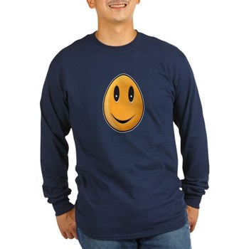 Orange Easter Egg Long Sleeve Dark T-Shirt