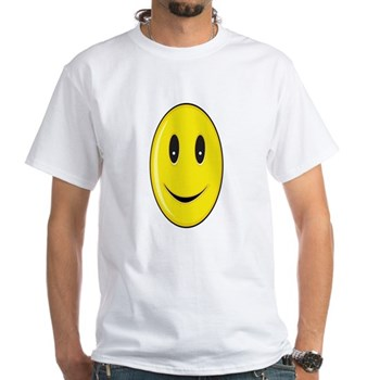 Long Face - Smile White T-Shirt