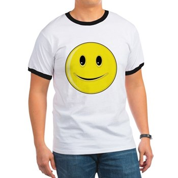 Smiley Face - Happy Smile Ringer T