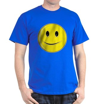 Smiley Face - Happy Smile Dark T-Shirt