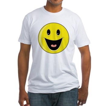 Smiley Face - Big Smile Fitted T-Shirt