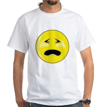 Smiley Face - Crying White T-Shirt