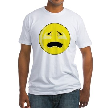 Smiley Face - Crying Fitted T-Shirt
