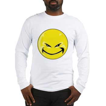 Smiley Face - Yellow Devil Long Sleeve T-Shirt